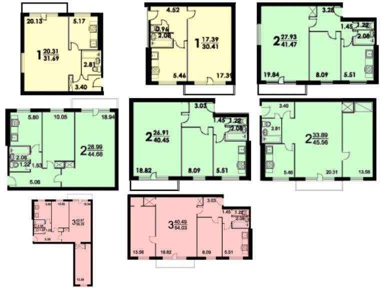 121 серия дома: планировка 1, 2-х и 3-х комнатных квартир, выбор окон, дизайн кухни, оформление помещений в панельном доме
