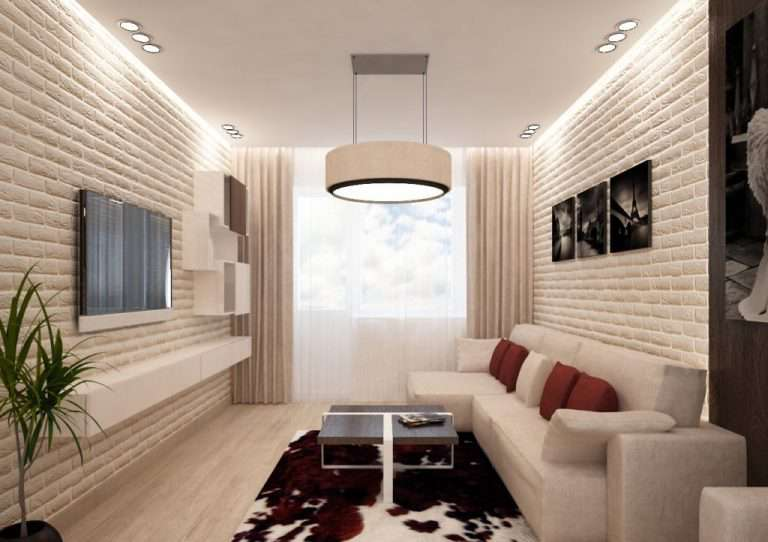 15 фото дизайна узкой и длинной гостиной: идеи интерьера длинной комнаты с окном и диваном