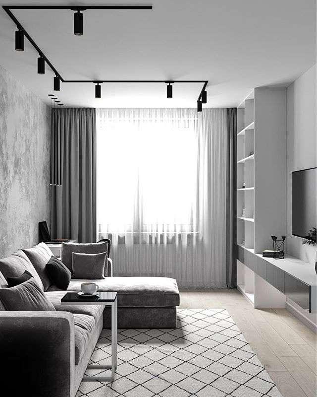 16 фото интерьера гостиной в серых тонах: оформление, зал в серых тонах