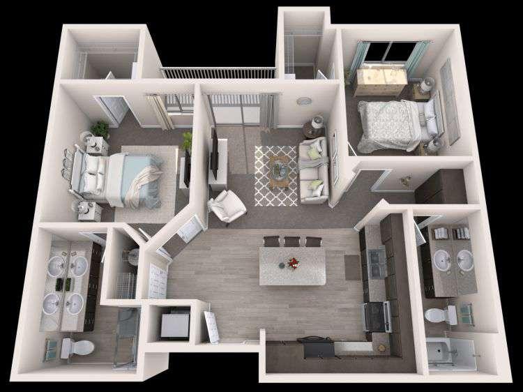 2021 ᐈ   ( 75 фото) Схемы и фото планировок 3х комнатных квартир удачные решения