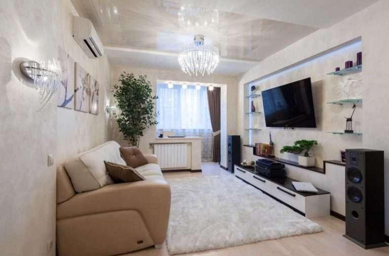 22 варианта дизайна зала в однокомнатной квартире: как уместить стенку, шкаф-купе, кровать и диван