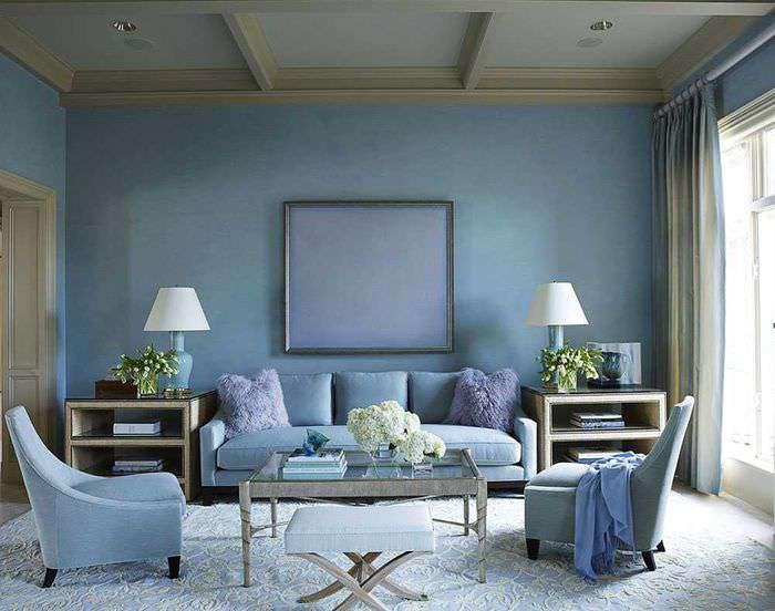 75 идей сочетания голубого цвета в интерьере с фото