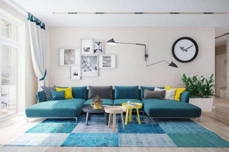 Бирюзовый цвет в интерьере (100 фото) — идеи дизайна комнат, с какими цветами сочетать