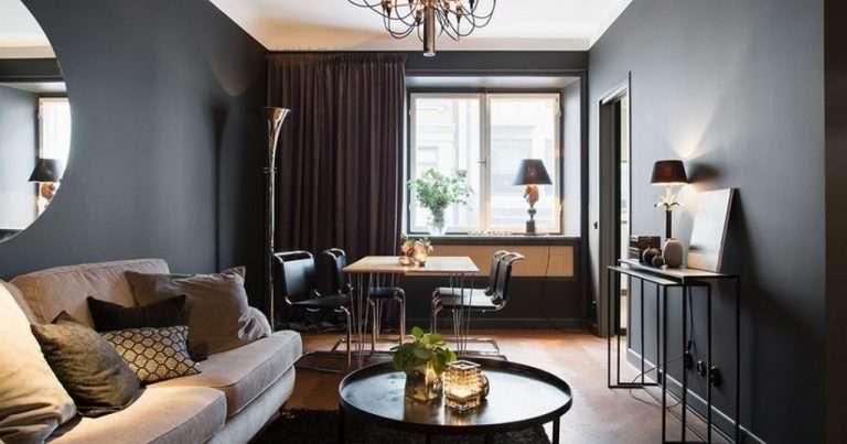Черная гостиная: ТОП-70 лучших идей дизайна и интерьера | Все для дома