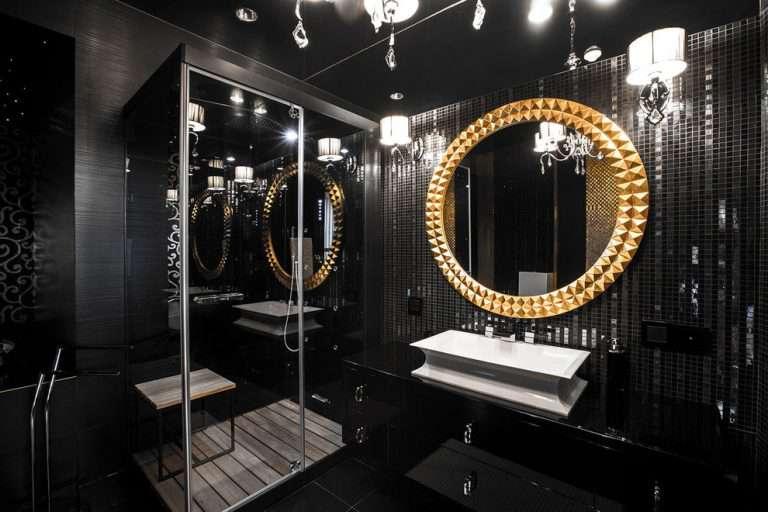 Черная ванная комната: особенности интерьера, сочетания цветов отделки и декора