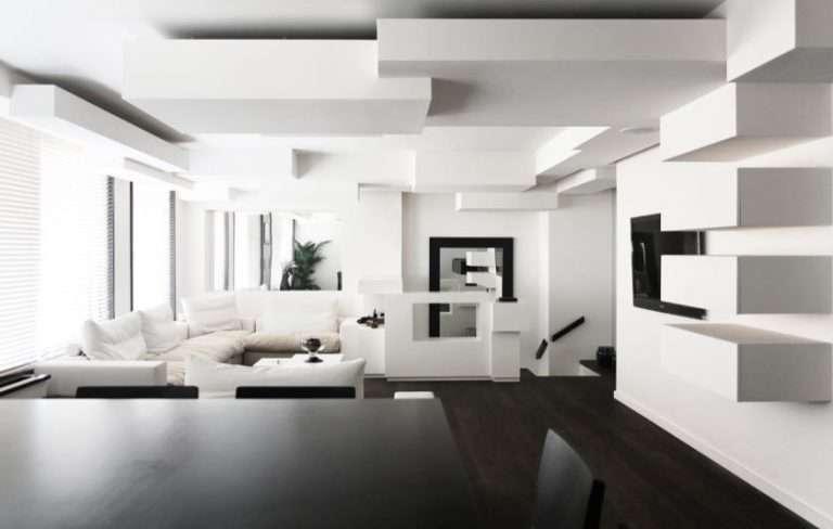 Черно белый интерьер — 80 фото самых вдохновляющих идей дизайна