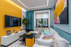 Дизайн гостиной комнаты площадью 17 кв