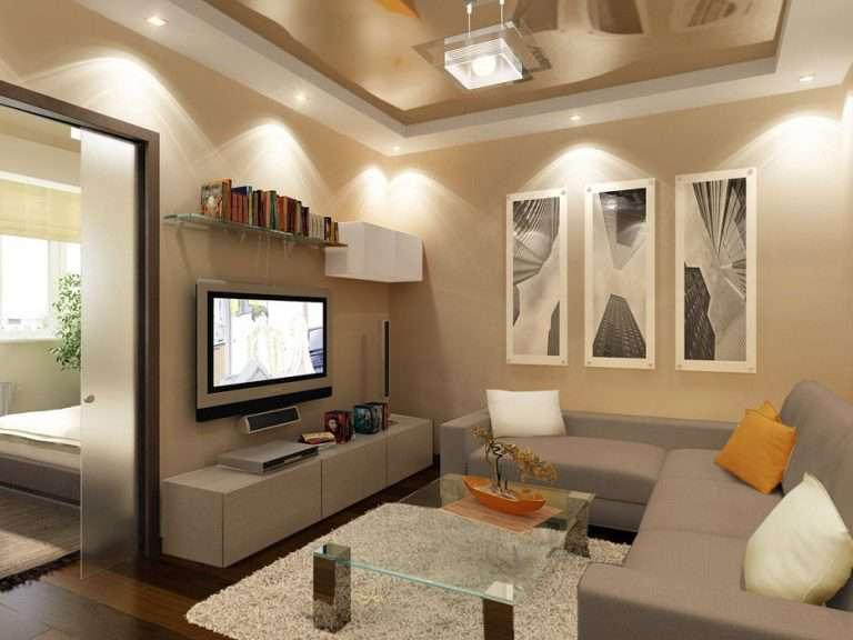 Дизайн гостиной с телевизором (43 фото): ТВ-зона в интерьере, оформление ниши из гипсокартона в углу