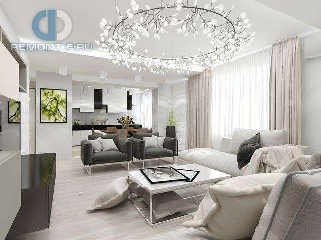 Дизайн гостиной, совмещенной с кухней   Идеи и фото 2016