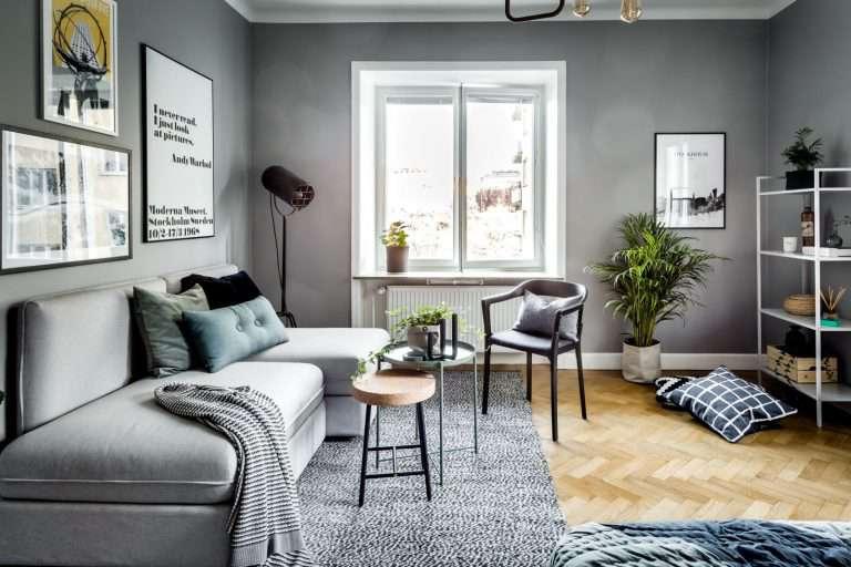 Дизайн гостиной в серых тонах — Фото, идеи интерьера в сером цвете