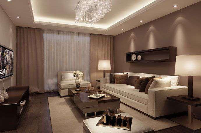 Дизайн интерьера гостиной 18 кв