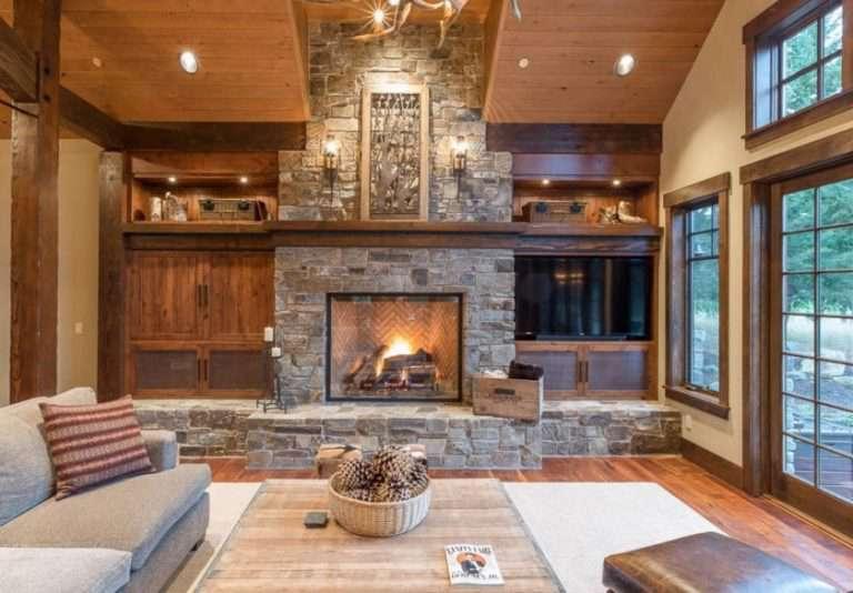 Дизайн комнаты с камином в квартире: 100 фото идей дизайна интерьера с камином в разных стилях