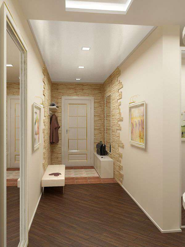 Дизайн коридора с прихожей в квартре