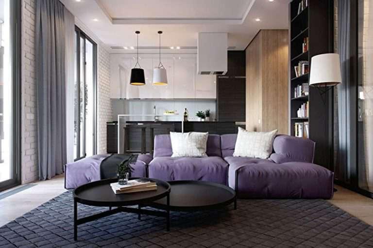 Дизайн кухни-гостиной — 90 фото, интерьер гостиной, совмещенной с кухней