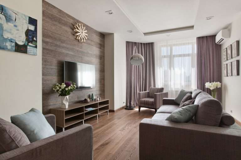 Дизайн квадратной гостиной — 20 фотографий интерьеров