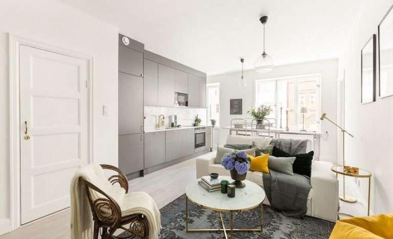 Дизайн квартиры 50 кв м: однокомнатная и двукомнатная 110 фото