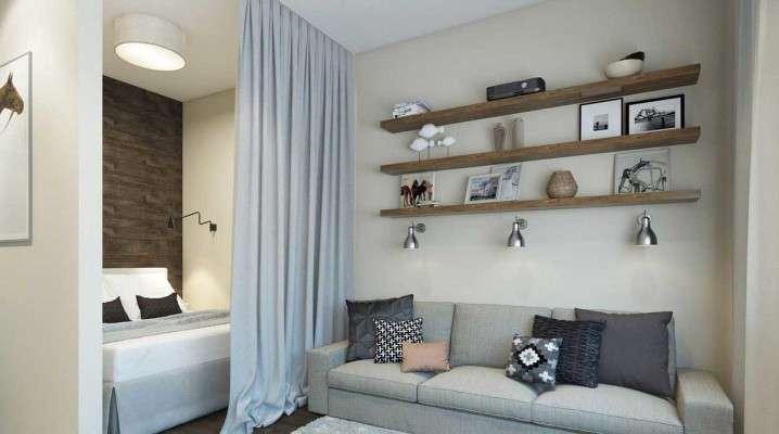 Дизайн однокомнатной квартиры с нишей: что такое, дизайн комнаты, интерьер зала, как обустроить спальню, идеи оформления кровати