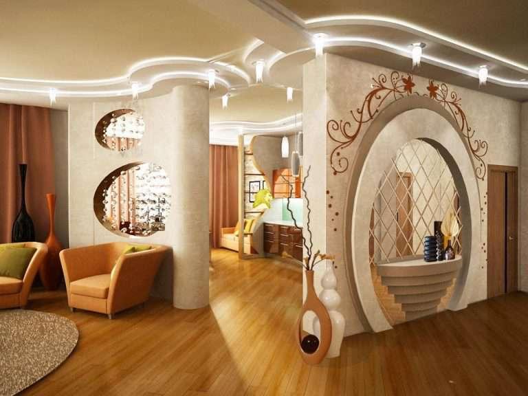 Дизайн стен из гипсокартона 40 фото идей