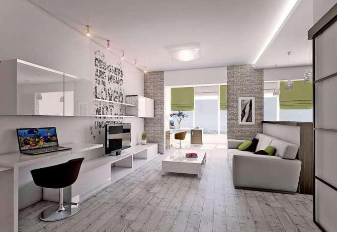Дизайн типовой двухкомнатной квартиры — большой выбор стилей