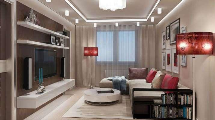 Дизайн зала 20 кв м в квартире на фото примерах