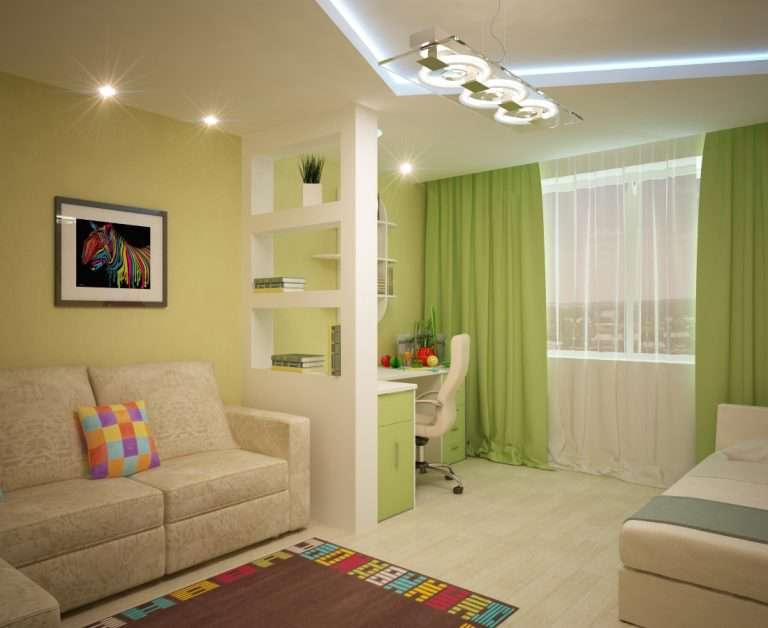 Гостиная и детская в одной комнате: зонирование совмещенного пространства | Дизайн и Фото