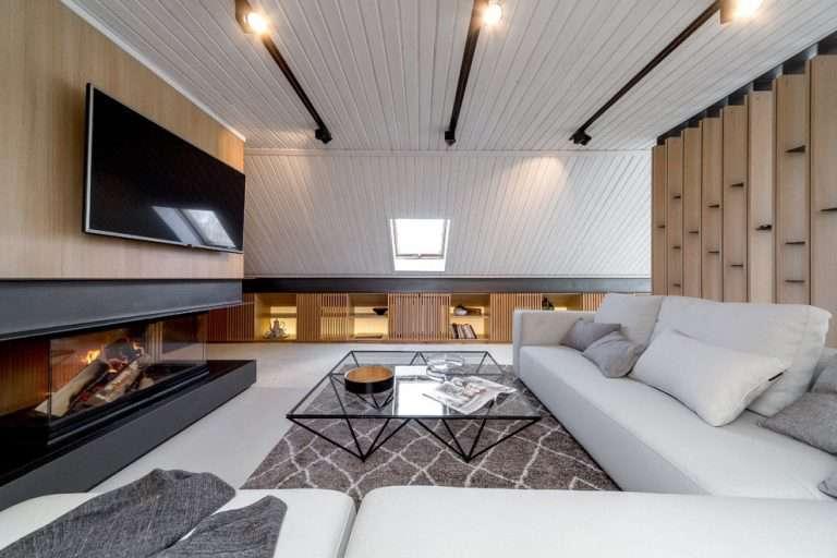 Гостиная с камином и телевизором: 50 фото в интерьере, красивые идеи дизайна
