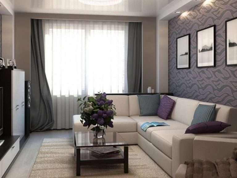 Интерьер гостиной комнаты 15 кв