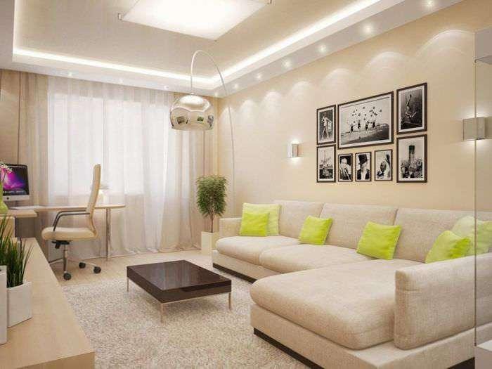 Интерьер гостиной комнаты 18 кв м фото — выбор мебели, идеи