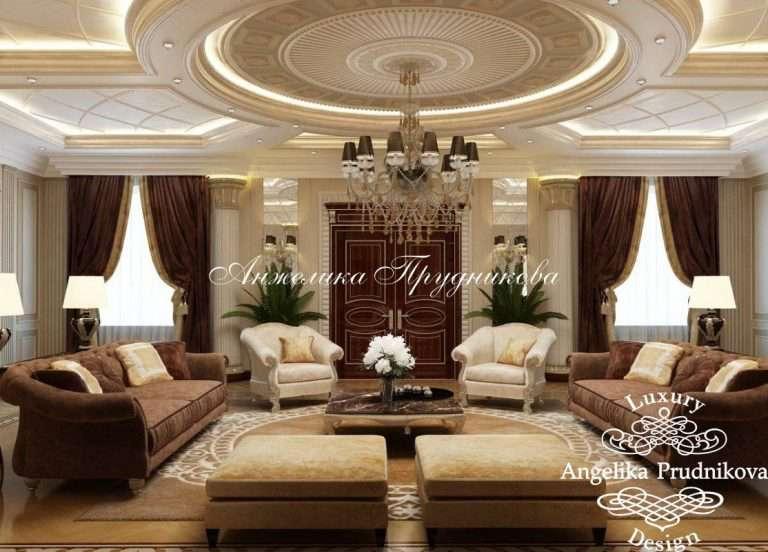 Интерьер гостиной в коричневых тонах (35 фото)