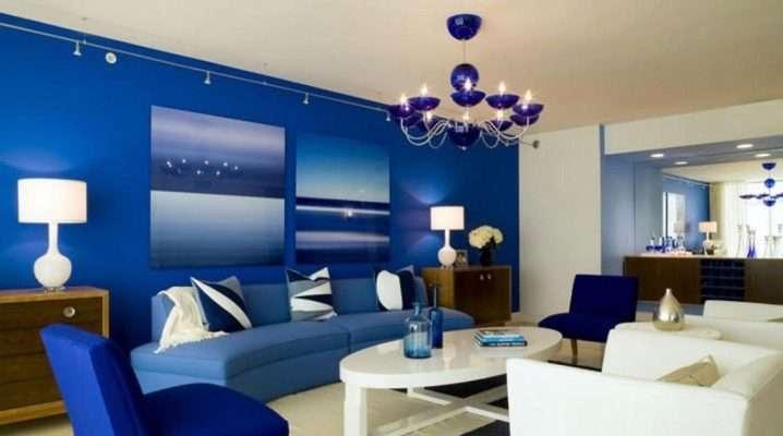 Интерьер синей гостиной (50 фото): сочетания с другими оттенками цветами в дизайне