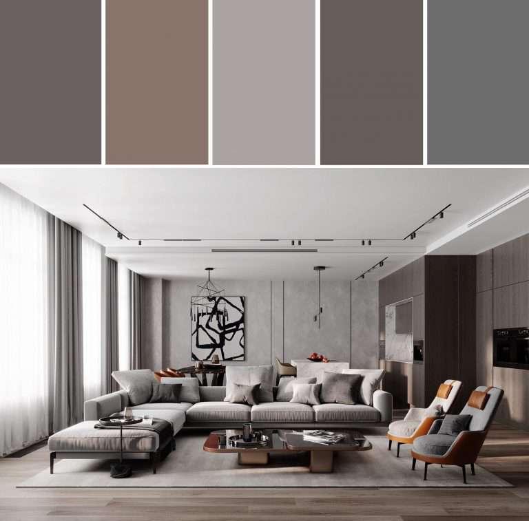 Интерьер в серых цветах – модные тенденции, идеи ( 130 фото)