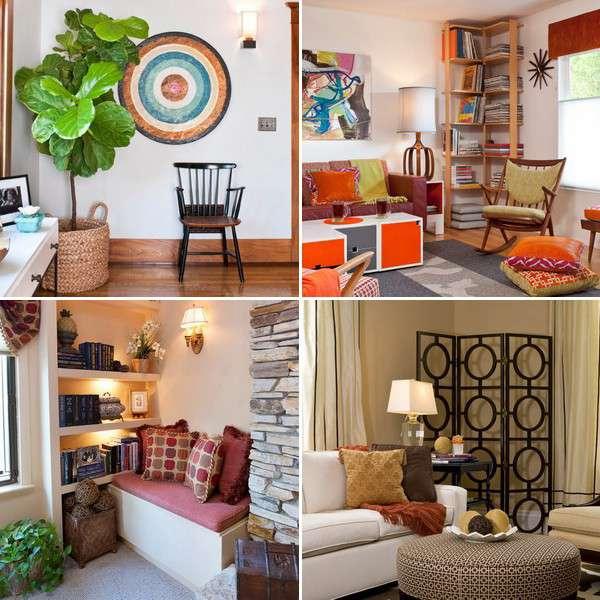 Как использовать угол в гостиной: 20 способов дизайна и 80 фото