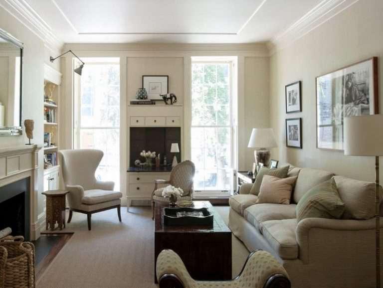 Как оформить интерьер гостиной с двумя окнами — особенности, советы по декорированию, фото идеи