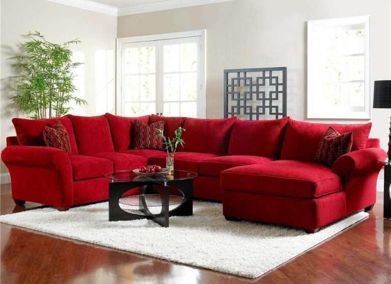 Красный диван в интерьере 75 фото яркого предмета мебели