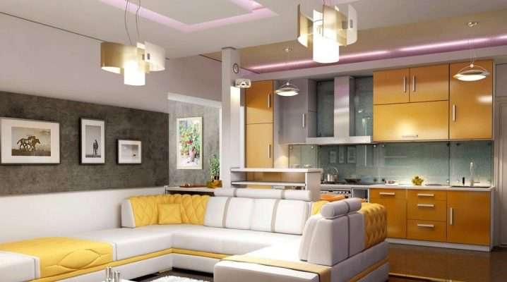 Кухня гостиная 110 фото дизайнов интерьера совмещенной комнаты
