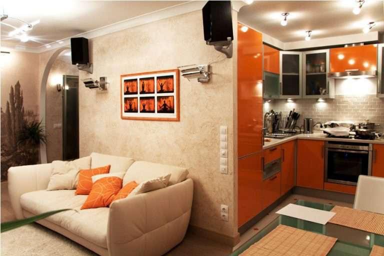 Кухня-гостиная в хрущевке: 50 фото дизайна и примеров совмещения