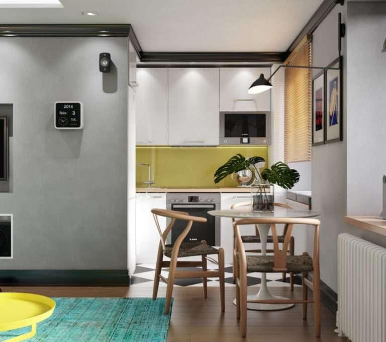 Кухня-гостиная в хрущевке: как совместить, дизайн объединенных комнат | Дизайн и Фото