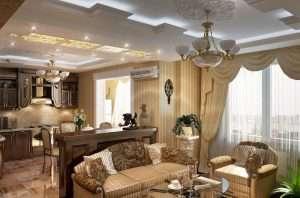 Кухня-гостиная в классическом стиле: правила оформления интерьера | Дизайн и Фото