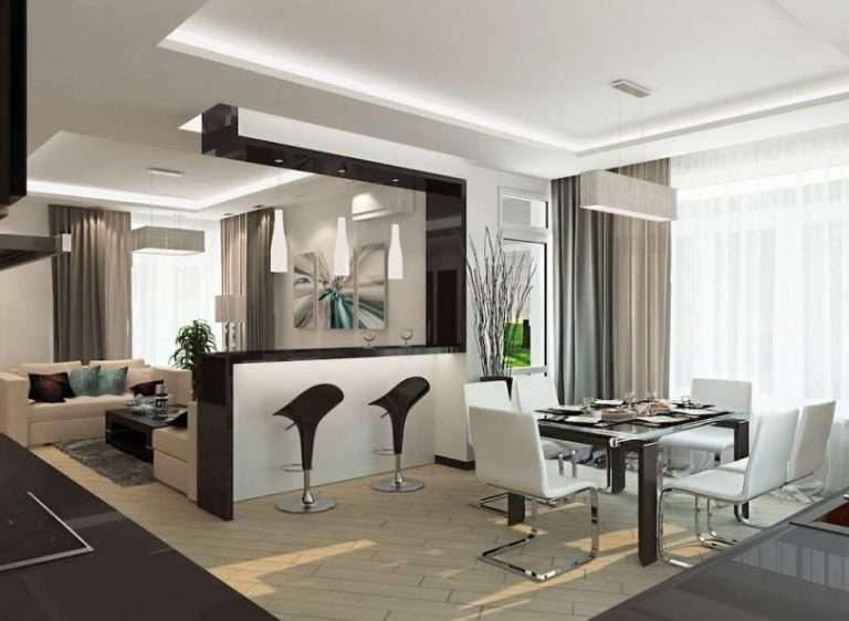 Кухня-студия: 60 фото дизайна, стили и планировки в квартире и частном доме