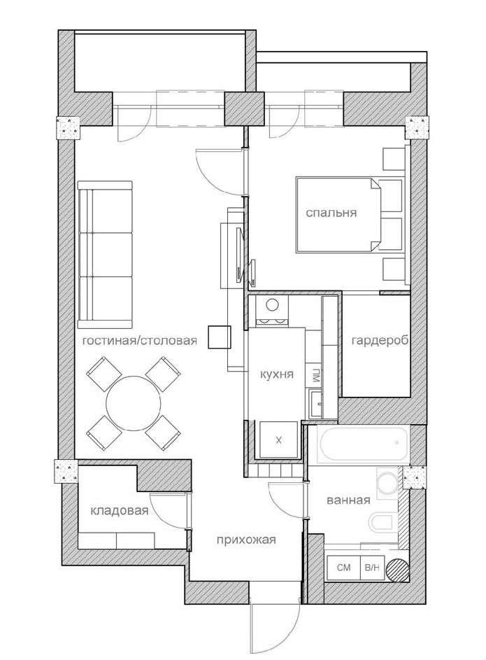 Квартира 50 кв