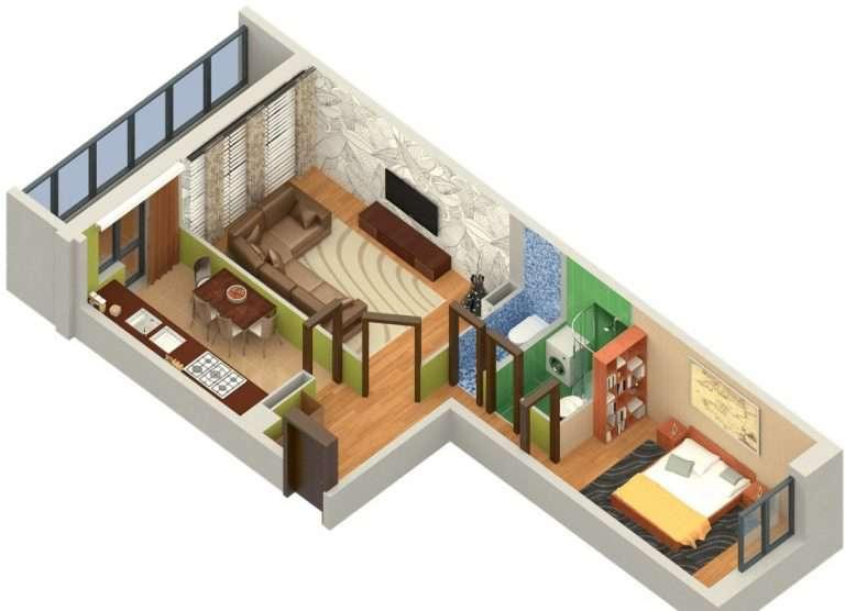 Квартира распашонка: что это такое, планировка, нюансы перестройки