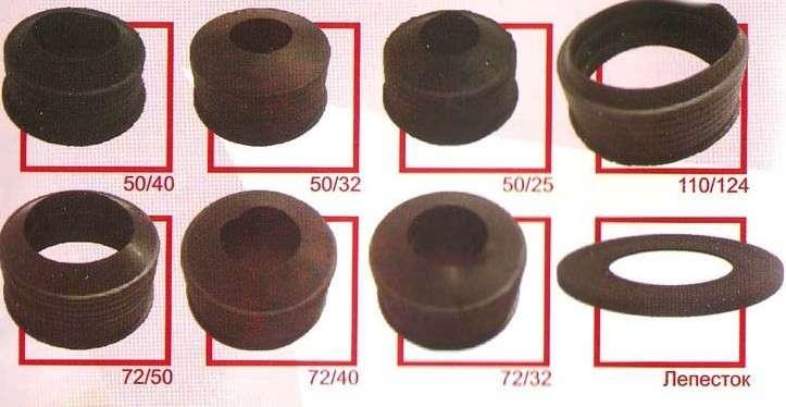 Манжеты уплотнительные резиновые для канализации