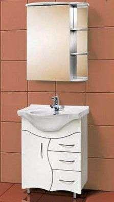Мойдодыры для ванной комнаты — комплект мебели с зеркалом, умывальником и тумбой, цена