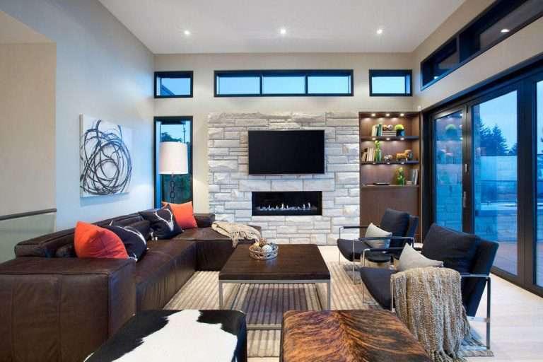 Натяжной потолок в зале: современный дизайн с лучшими примерами