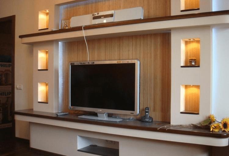 Ниша из гипсокартона под телевизор (75 фото) — дизайн, оформление и отделка, как сделать своими руками