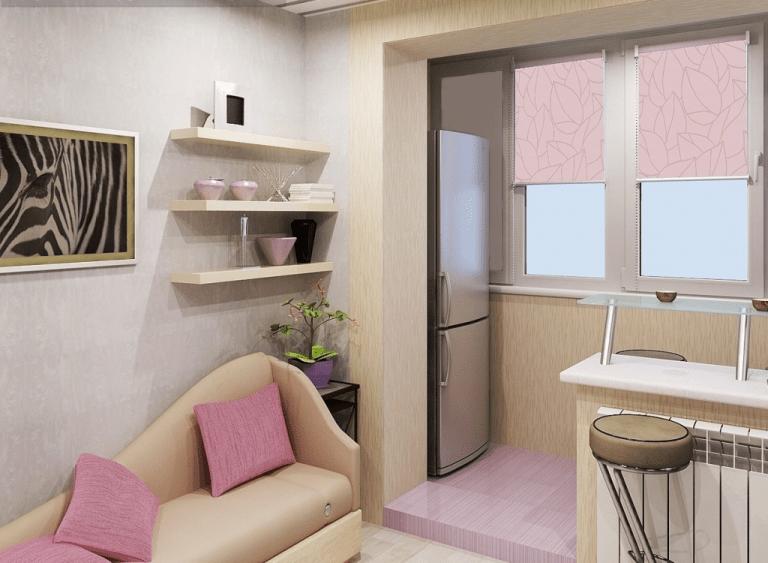 Объединение балкона с комнатой (63 фото): совместить лоджию с залом, увеличение за счет объединения
