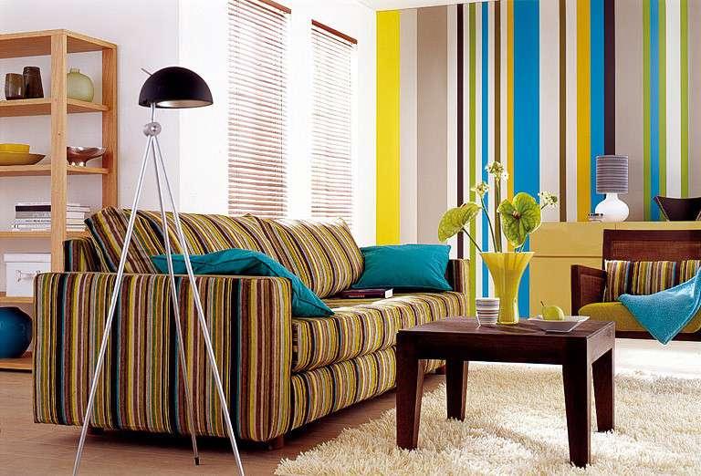 Обои в полоску — как создать нестандартный дизайн комнаты с помощью простых линий (104 фото)
