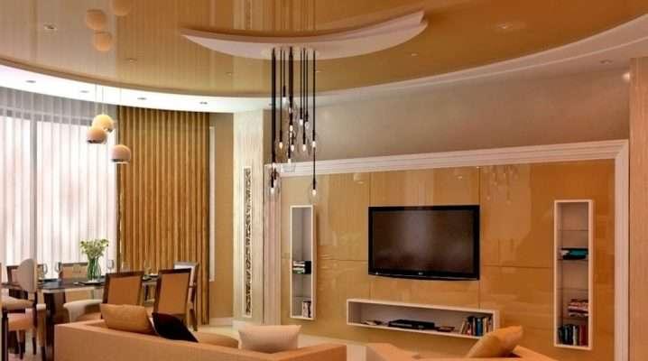 Потолки из гипсокартона для гостиной (49 фото): дизайн зала с двухуровневыми потолочными покрытиями с подсветкой, 2-х уровневые модели — 2021