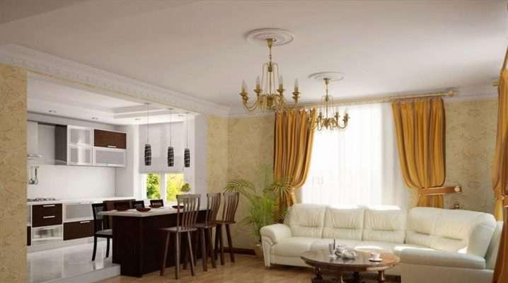 Проект кухни-гостиной: перепланировка двухуровневого пола в квартире, дизайн совмещенной с барной стойкой, современные примеры интерьера