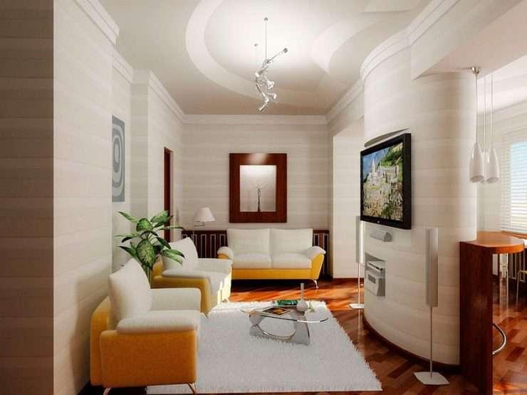 Проходная гостиная — 88 фото вариантов удобного дизайна